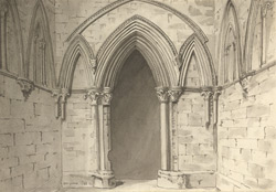 Lincoln, Bishop's Palace f.129